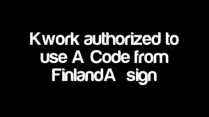 "Kwork authorized to use ""Code from Finland"" sign"